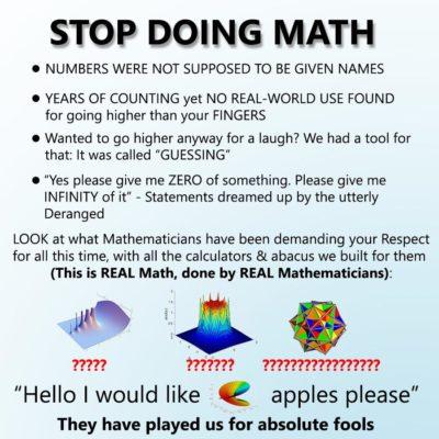 Stop doing math