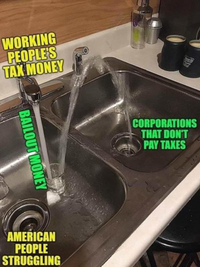 A visual representation of trickle down economics
