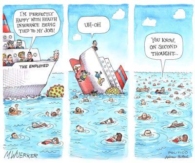 """Sinking"" health insurance"