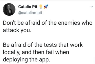 Keep your enemies close and your tests closer