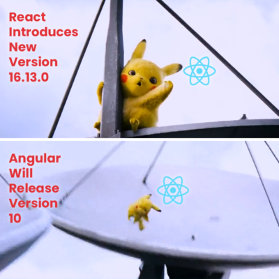 React shocked when angular will rock. Just for fun!!!