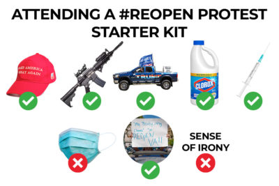 Everything you need to bring to the next #reopen protest