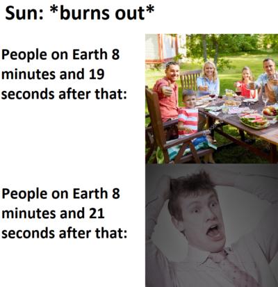 Sun is hot