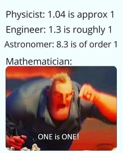1 is 1