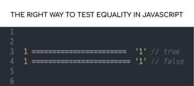 The equality operator in Javascript.