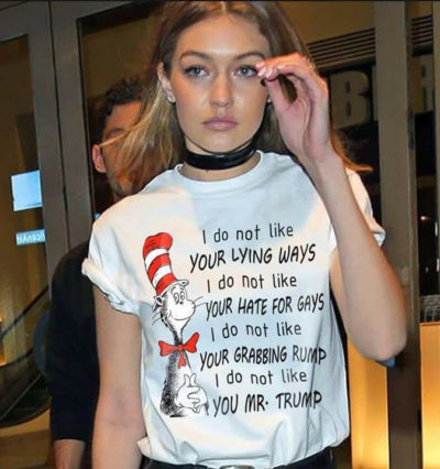 "Dr. Suess vs. Trump – Tee – ""I do not like your lying ways!"""