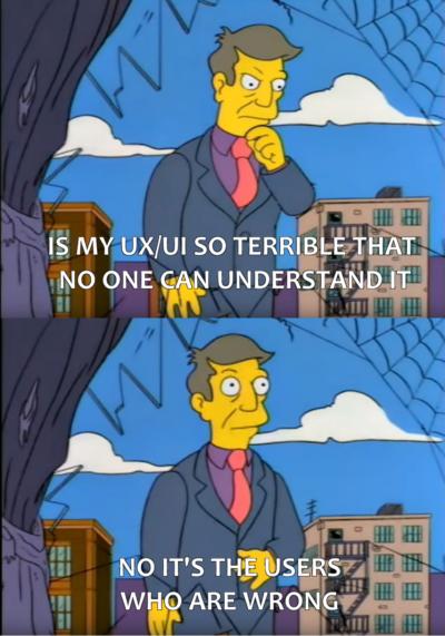 Programmer good, users bad