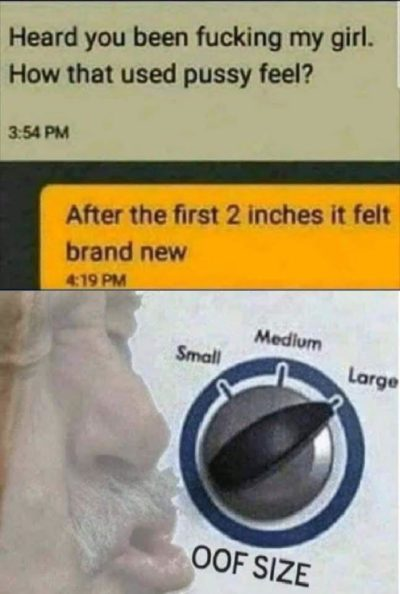 oOf SiZe LaRgE