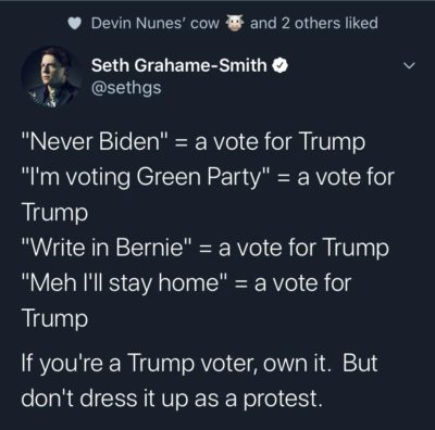 Devin Cow approved goodness. Also not voting blue = Trump replaces RBG. Putin trolls save your typing finger I don't read comments or reply.