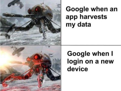 Typical Google stuff…
