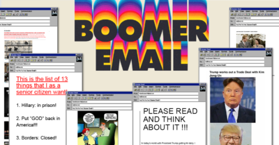 A weekly newsletter of unhinged email chains sourced from thousands of real boomers