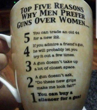 Wife bad Guns good!
