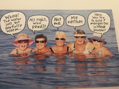 My dad wants to send this to my aunt (who's gay) for her birthday. 'It's like her and her friends in Provincetown!' 🙄