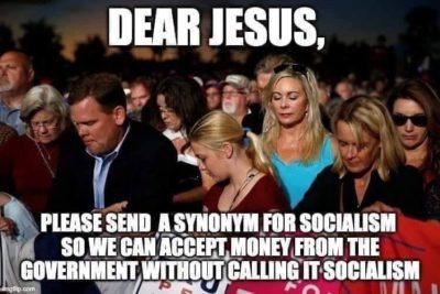 Conservative prayer these days!