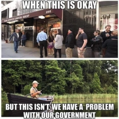 Coffee bad, fishing good