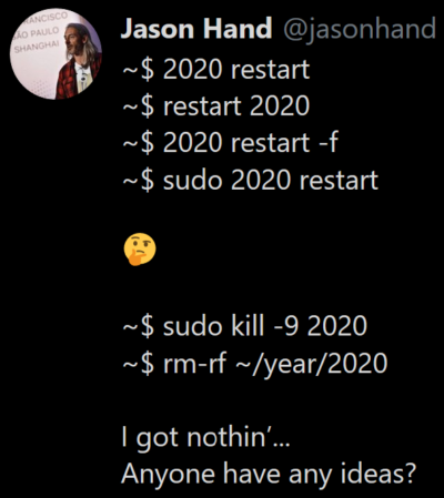 pretend 2020 is a feature