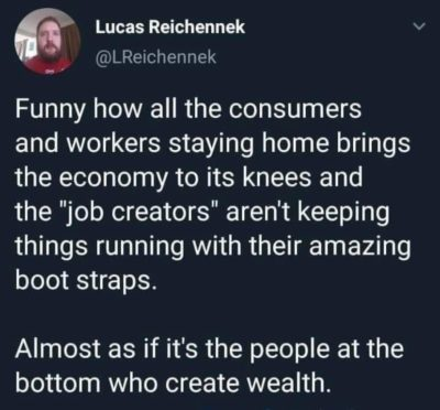The people at the bottom are the economy