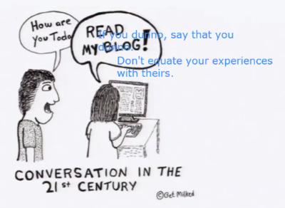 At an online class