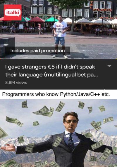 """Yeah I'm Multilingual"""