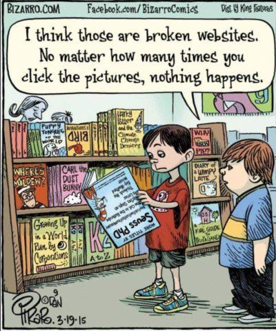 The websites won't work! >:(