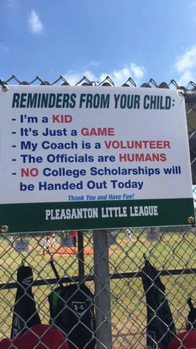 [Image] This sign should be at every Little League field