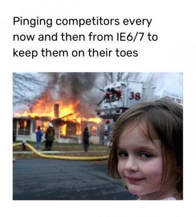Keeping the competitors busy