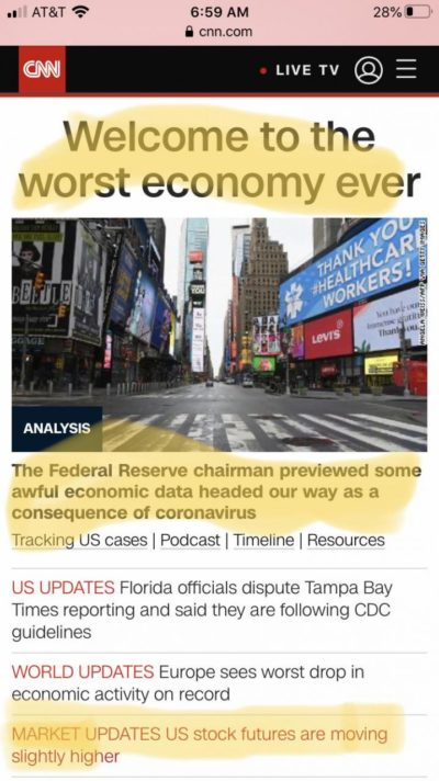 Worst economy ever, stock futures higher lol