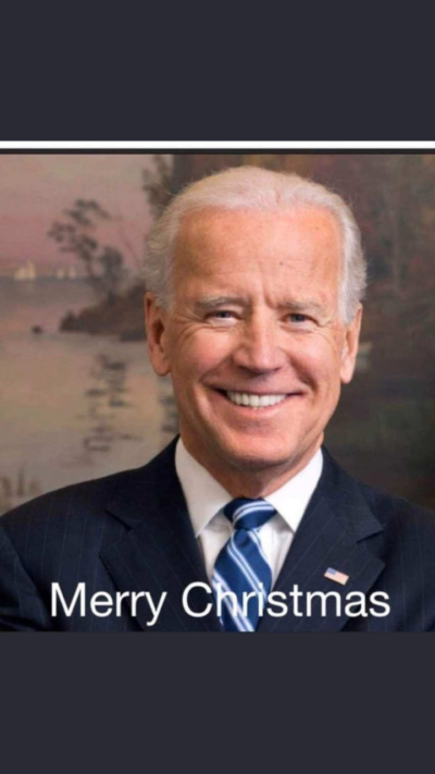 Message from Joe Biden today