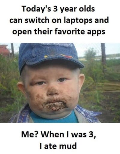 Technology bad, mud good