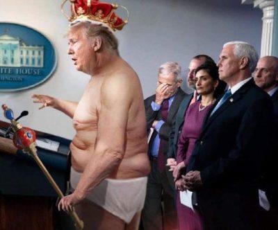Trump declares himself king (colorized, 2020)