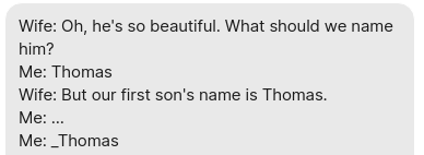 Or Thomas2, or newThomas, or otherThomas…