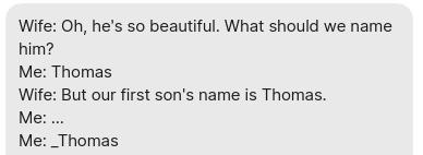 Or Thomas2, or newThomas, or otherThomas…