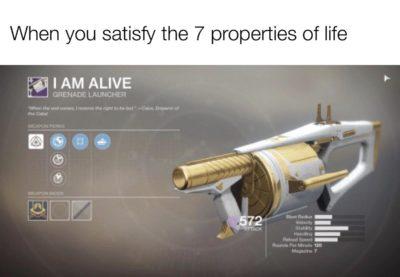 Biology meets destiny Gun memes