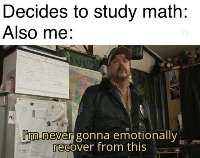And I'm only in second year