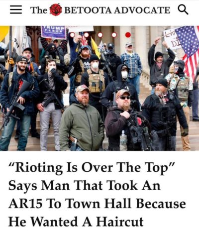 """Rioting is over the top"""