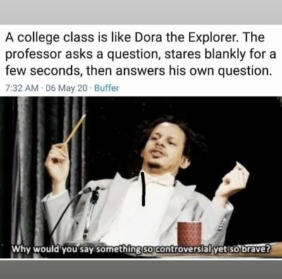 #jokes How is a class like Dora the Explorer?