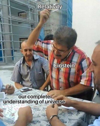 Herr Einstein…