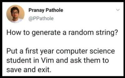 Random string is not so random