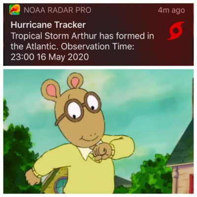 Ok who else had Hurricane Arthur on their card for June?