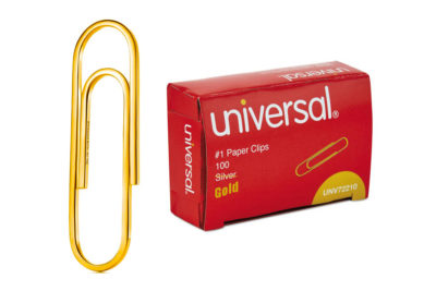 If this box of paper clips were filled with Tiffany 18k paper clips ($1500 each), the box would cost $150,000 (shipping not included)