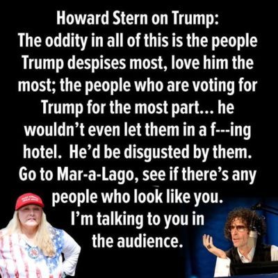 Howard Stern on Donald Trump