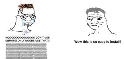Haha install button go click
