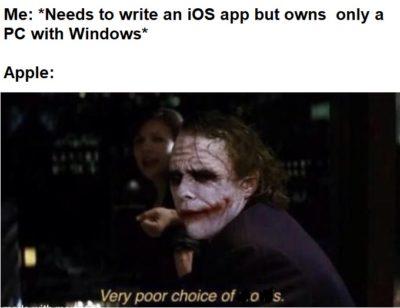 Because FU, Apple