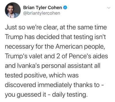 Should also test Trump for low IQ and STDs