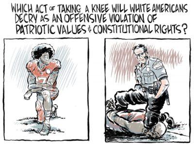 It's ok to kneel if you're white