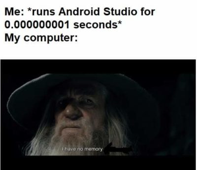 Android nibbas be like