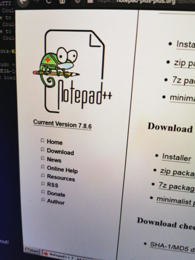 The Notepad++ chameleon do be rockin a face mask.