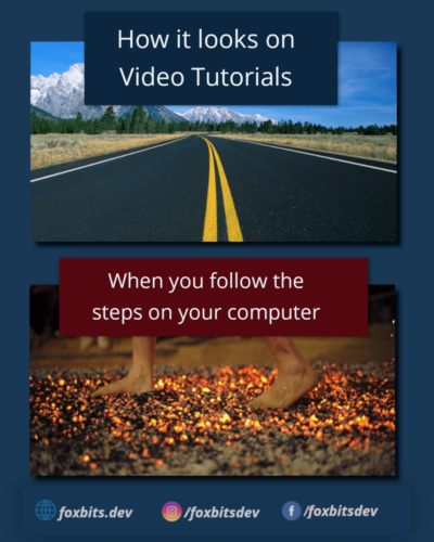"""How it shows on video tutorials"" VS ""What happens when you try to do the same on your computer""."