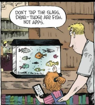 Silly Millennial, those are fish, not apps.