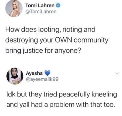 When will Tomi Lauren just shut up?